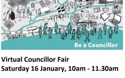 Interested in being a Councillor? Virtual Councillor Fair 16.01.21 10am