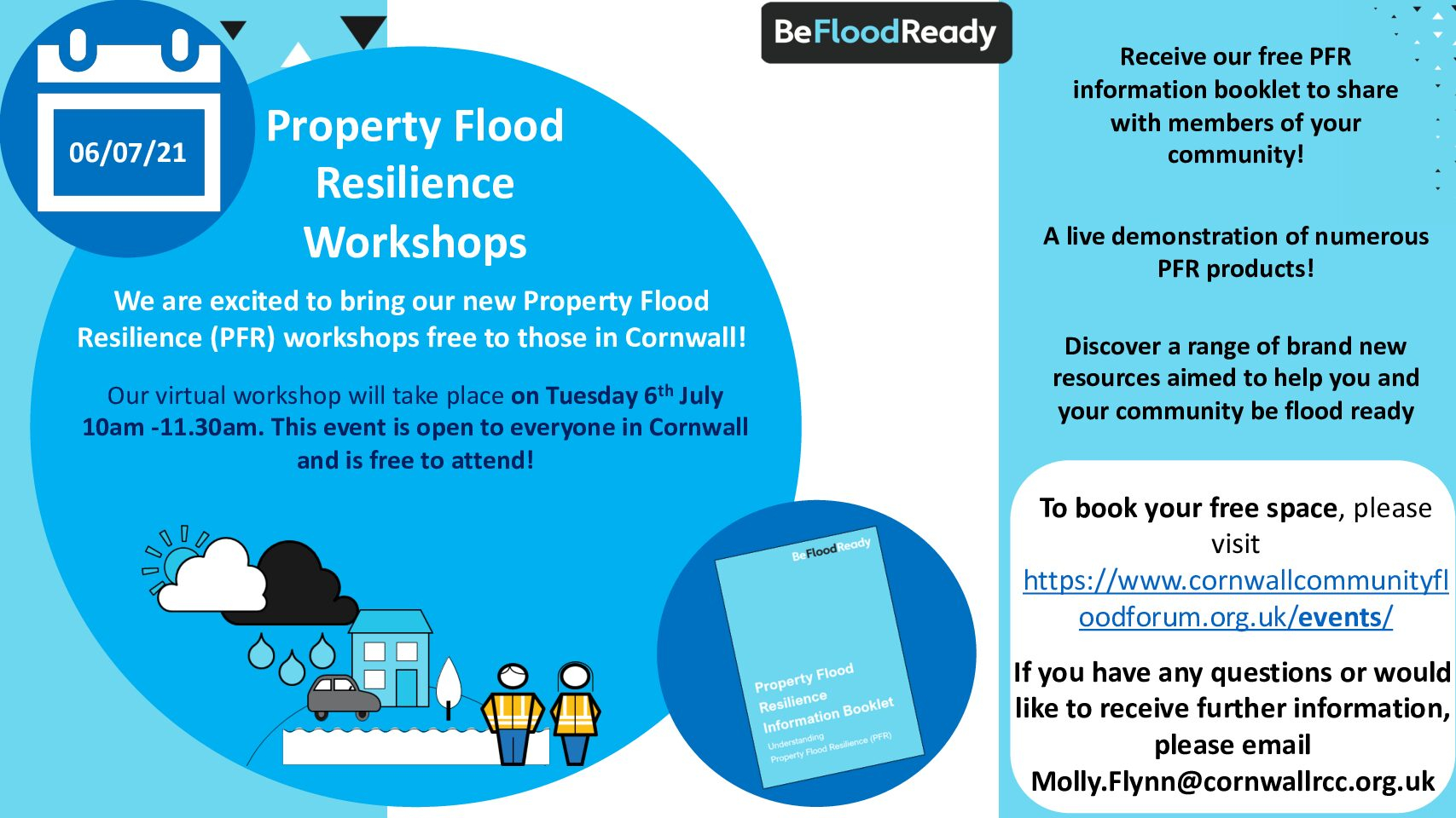 Virtual event: An introduction to Property Flood Resilience (PFR) workshop on Tuesday 6th July 10am